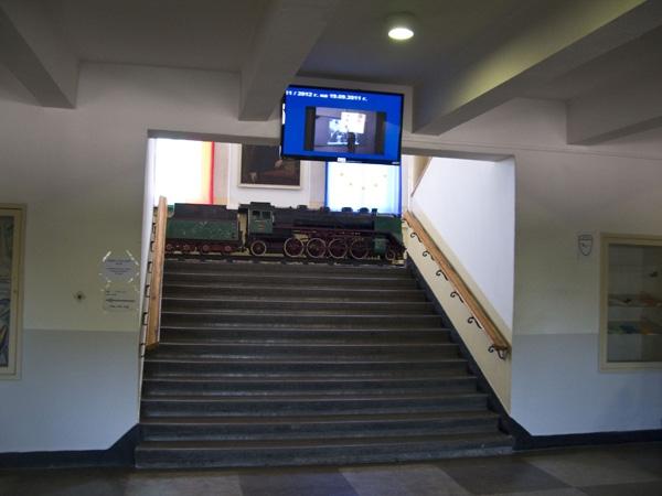 диджитал сайнидж във Висше Транспортно Училище - София